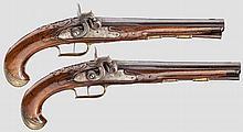 Ein Paar Perkussionspistolen, Josef Kuchenreuter, Steinweg bei Regensburg um 1760