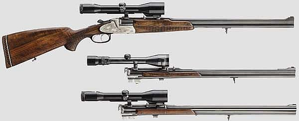 A Franz Sodia Bergstutzen with two interchangeable barrels