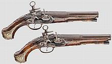 Ein Paar Miquelet-Steinschlosspistolen, spanisch, Ende 18. Jhdt.