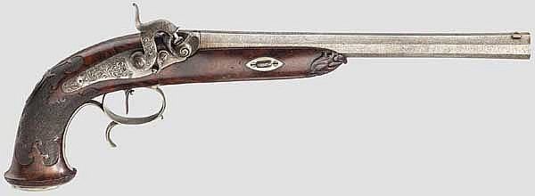 Perkussionspistole, Sauer und Sohn, Suhl um 1850