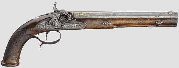Geschenkpistole an einen türkischen Würdenträger, Störmer in Göttingen um 1850