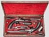 Ein Paar Perkussionspistolen im Kasten, Barella in Berlin & Magdeburg um 1850