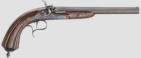 Perkussionspistole, Kneipp in Wiesbaden um 1850