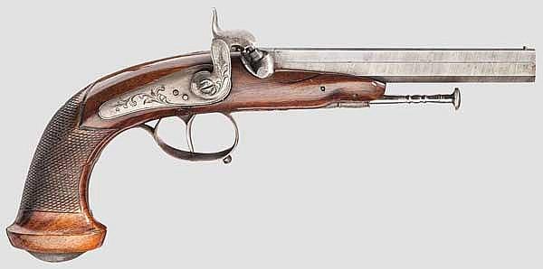 Perkussionspistole, Lüttich um 1860