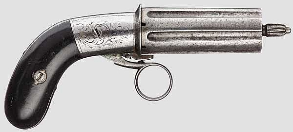 Stiftfeuer-Bündelrevolver Mariette, um 1860