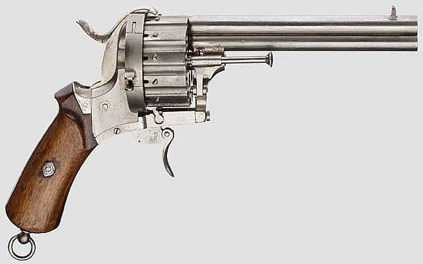 Doppellauf-Revolver System Lefaucheux, um 1866