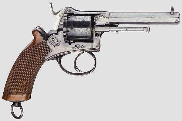 Revolver System Lefaucheux mit geschlossenem einteiligen Rahmen