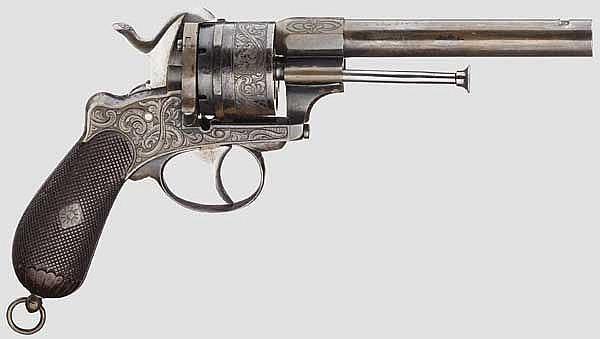 Schwerer Stiftfeuerrevolver Mod. 1854, Lefaucheux, graviert
