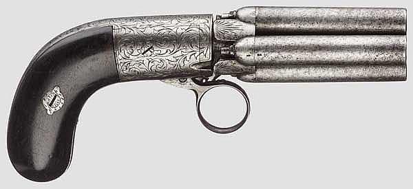 Belg. Bündelrevolver Mariette, um 1840