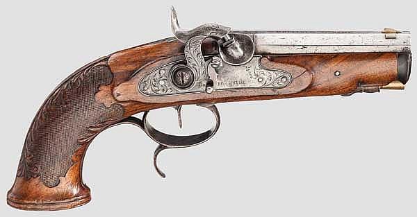 Perkussionspistole, Goellner in Suhl um 1840