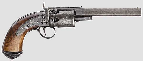 Transitionsrevolver, Edel in Leipzig um 1840