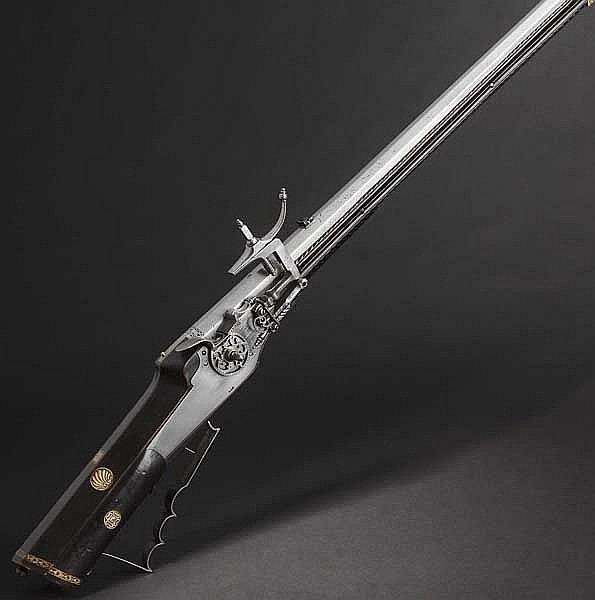 A German wheellock rifle with bone veneer, mid-17th century