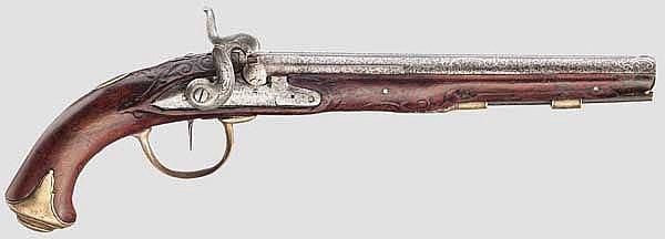Perkussionspistole, Johann Christoph Kuchenreuter, Steinweg bei Regensburg um 1780