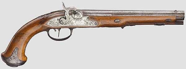 Perkussionspistole, Johann Andreas Kuchenreuter, Steinweg bei Regensburg um 1780