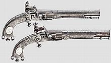 A pair of Scottish all-metal pistols, T. Murdoch in Leith and Doune, circa 1780