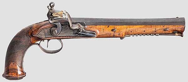 Steinschlosspistole, deutsch um 1810/20