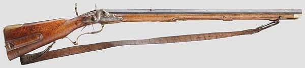 Jagdliche Perkussionsbüchse, deutsch um 1740