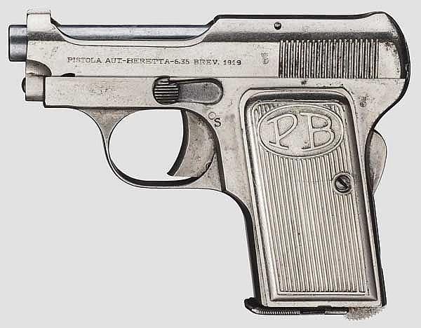 Beretta Mod. 1919, vernickelt