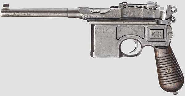 Mauser C 96 Mod. 1930, mit Kasten und Leder