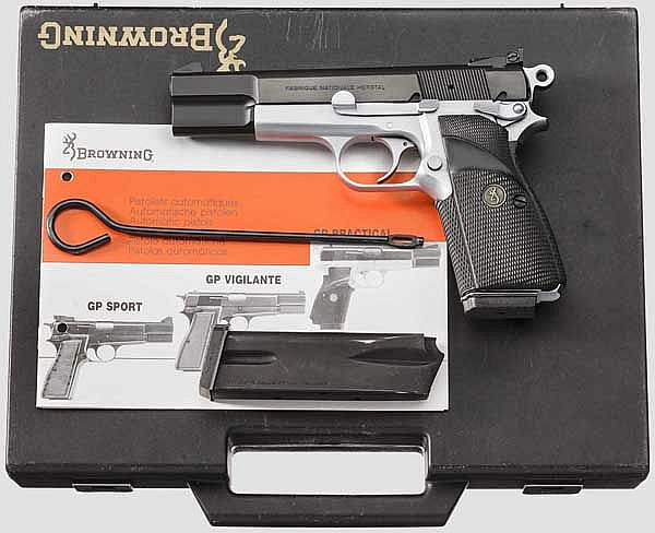 FN HP Mod. 35 Practical Adjustable, dual tone, im Koffer