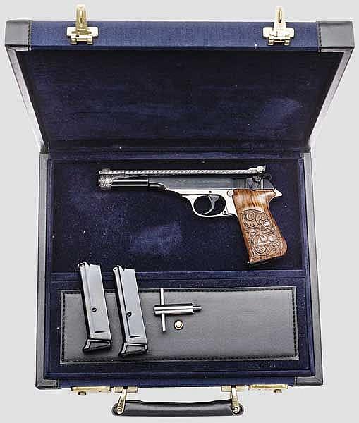 Walther PP Sport, getuned, graviert, im Koffer