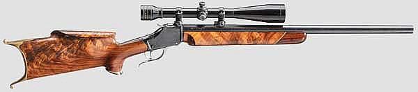 Winchester Single Shot (1885) Model, Schuetzen Rifle, mit ZF Redfield
