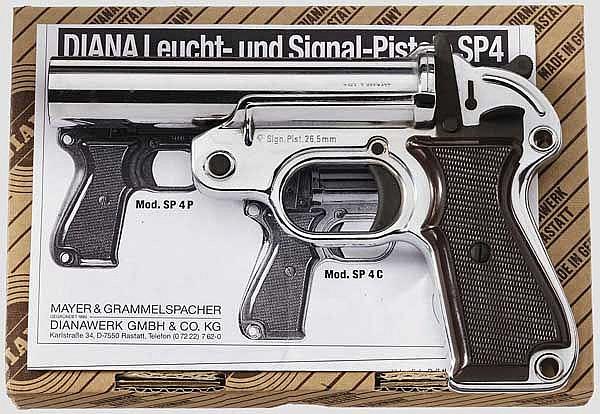 Signalpistole Diana Mod. SP 4 C, verchromt, im Karton