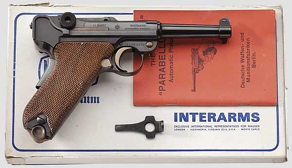 A Parabellum Mauser Mod. 29/70, American Eagle, Interarms, in its carton