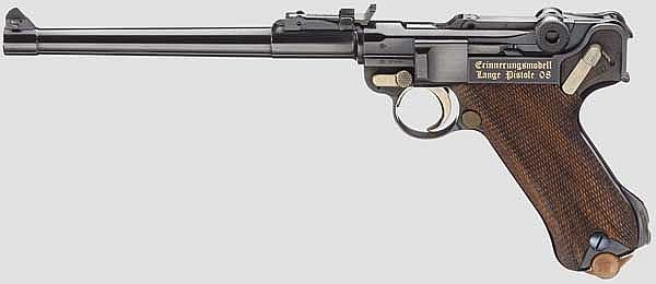 Lange Pistole 08, Mauser, Erinnerungsmodell, im Koffer