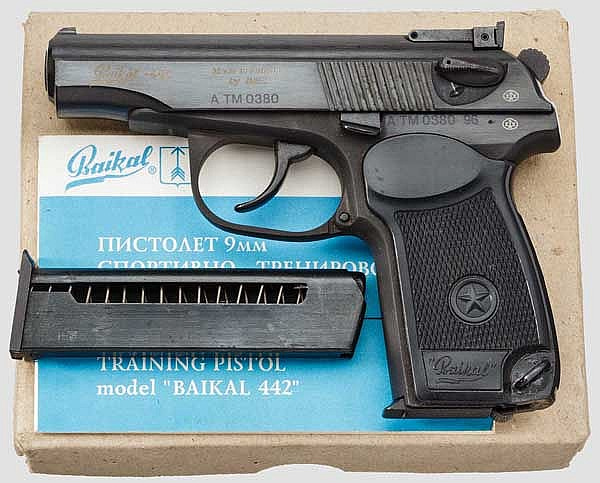 Sport- und Trainingspistole Baikal - 442, im Karton