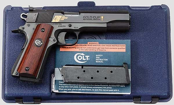 Colt Mark IV Series 80, Gold Cup Nationbal Match, U.S. Shooting Team Commemorative 1 0f 500, im Koffer