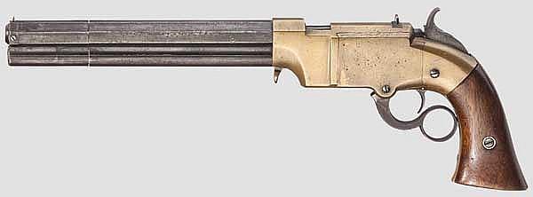 A Lever Action Navy Pistol Volcanic, circa 1855