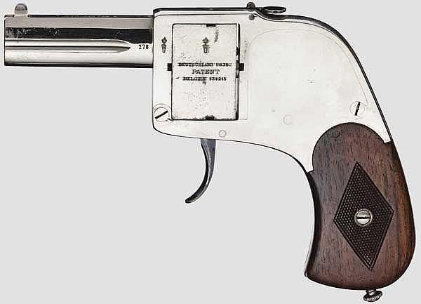 Bär-Pistole, vernickelt, um 1910