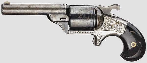 Moore's Front Loading Revolver (Teat-Fire), um 1865