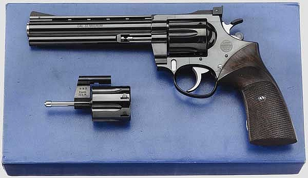 Revolver Korth, Serie 30, Sport, mit Wechseltrommel, im Karton