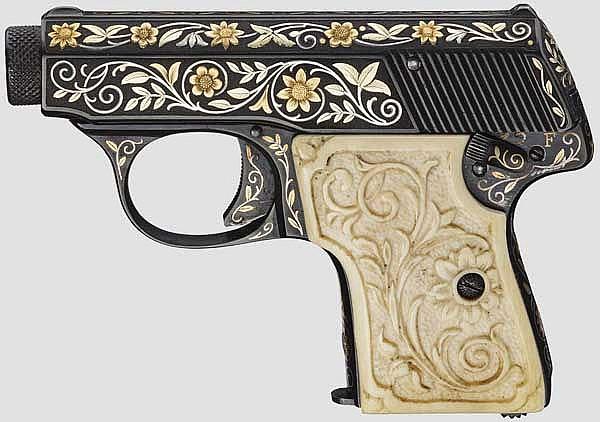 Walther Mod. 5, gravierte Luxusausführung