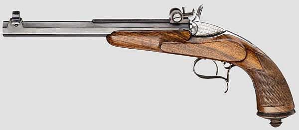 Sportpistole auf Flobert-Basis, Jamar, Lüttich um 1883