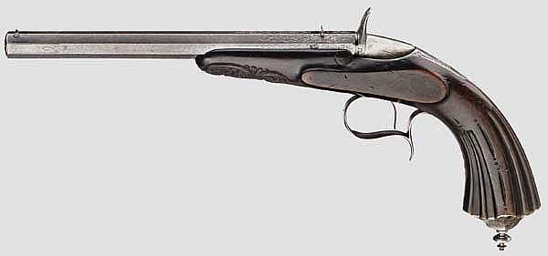 Belgische(?) Flobert-Salonpistole, um 1865