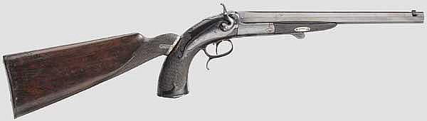 Kipplauf-Kolbenpistole, belgisch/französisch um1870