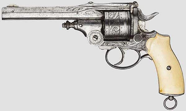 Kipplauf-Revolver Warnant-Créon, um 1890