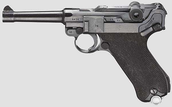 A Parabellum Mauser 1938 - S/42, military code, Commercial