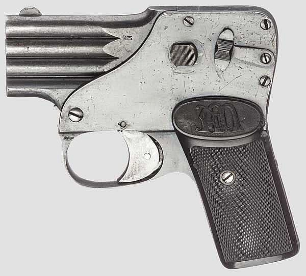 Pistole Regnum, August Menz, Suhl, um 1900
