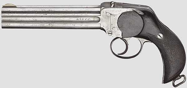 A four-barrel Lancaster pistol, London, after 1882