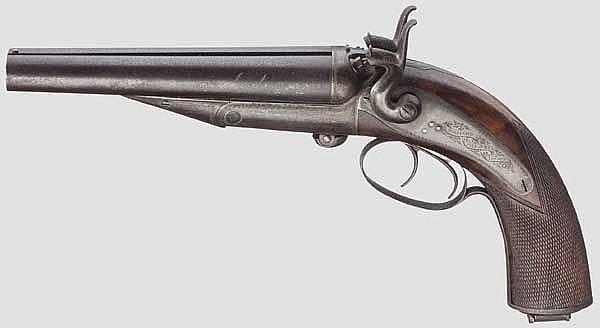 Doppelläufige Howdah-Pistole, Wilkinson, London um 1890