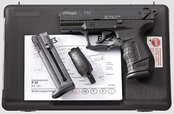 Walther P 22, im Koffer