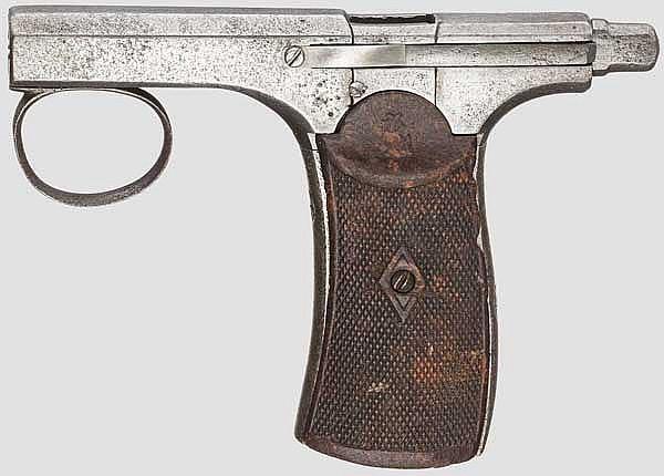 Einhandpistole Brun-Latrige, um 1890
