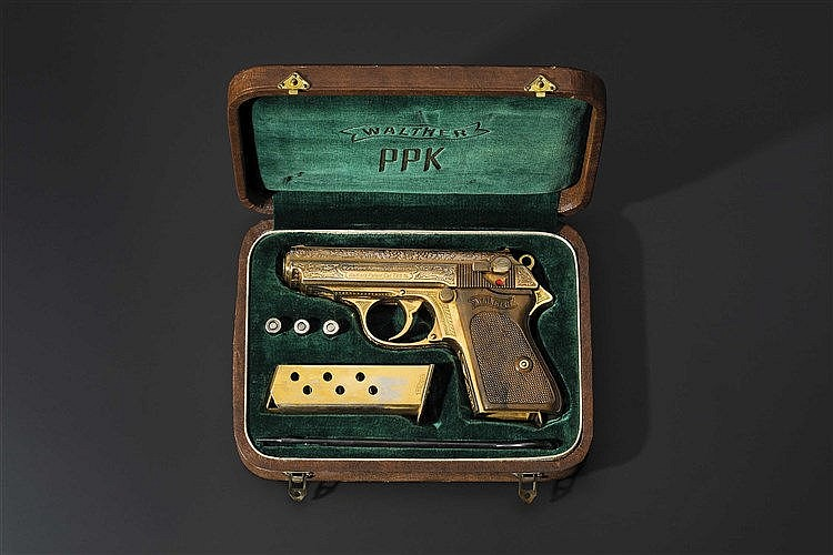 A Walther PPK Zella-Mehlis, deluxe version, factory-engraved, gilded, in its casket