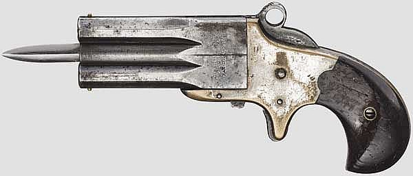 Frank Wesson Small Frame Superposed Pistol with sliding dirk, 1st Type, (