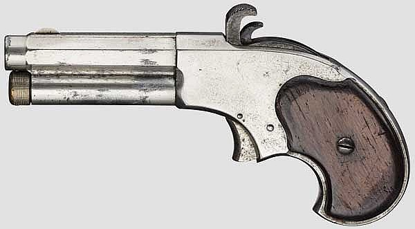 Remington-Rider Magazin Pistol, nickel finish