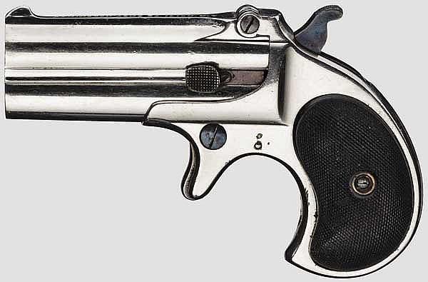 Remington Double Deringer, vernickelt, um 1888